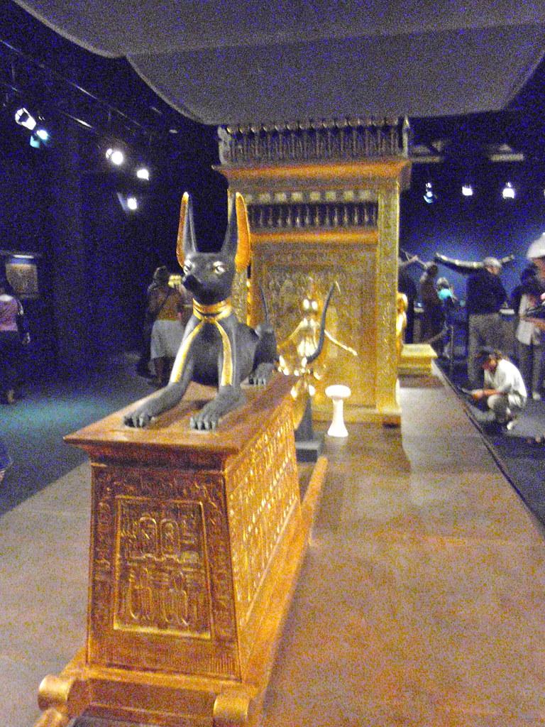 Portable shrine with Anubis figure, King Tut exhibit | Flickr