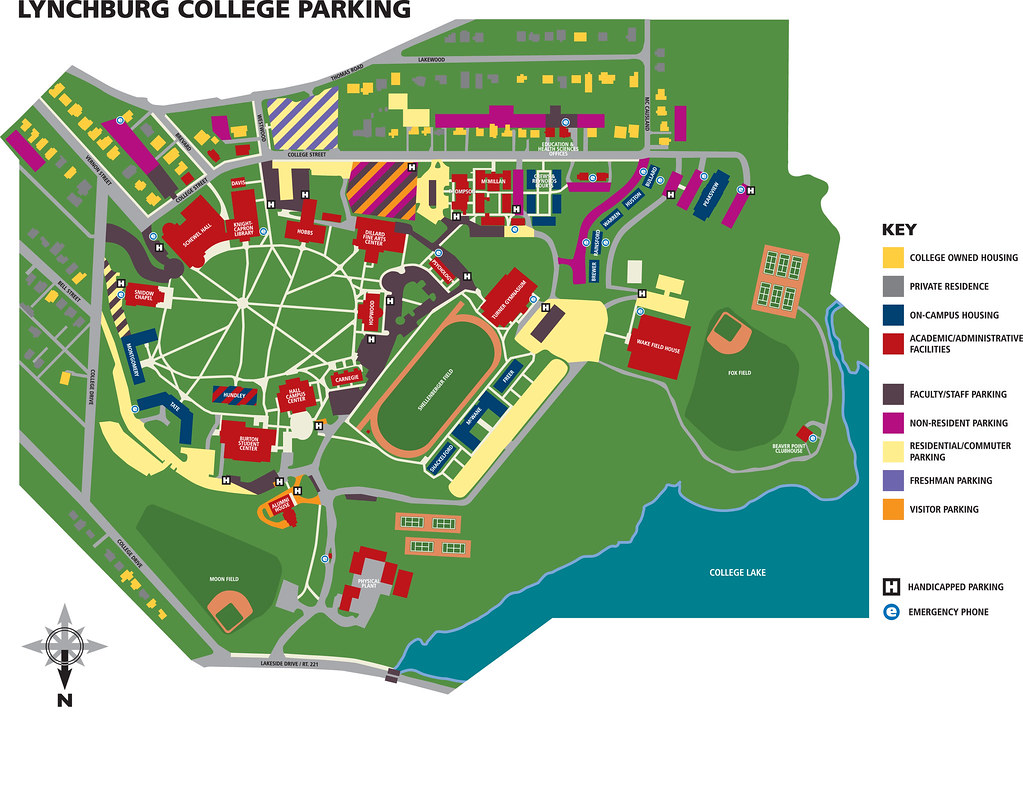 Parking Map | Lynchburg College Parking Map | Lynchburg College | Flickr