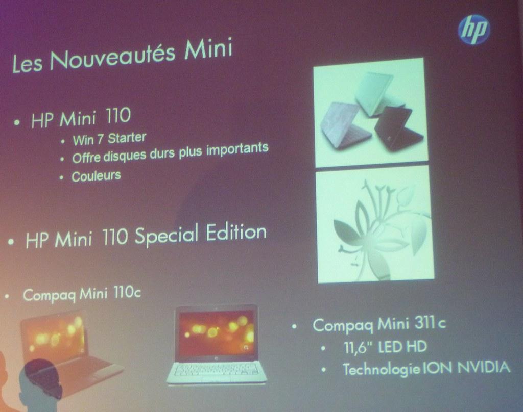 Slide HP Mini Netbooks