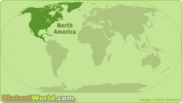 North American Continent Location Map 2   Location map for t