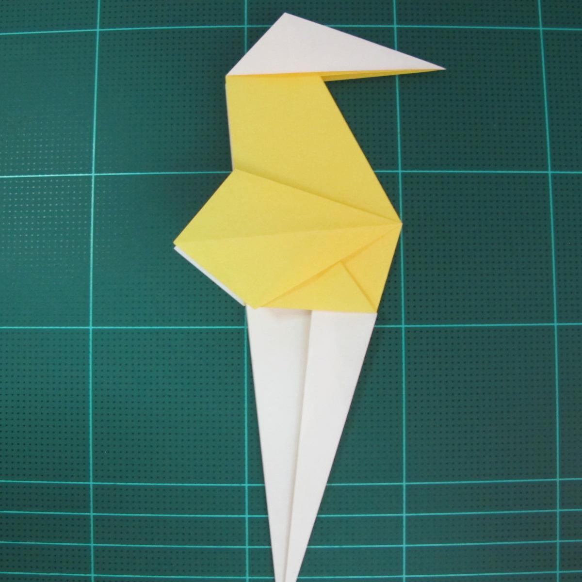 วิธีการพับกระดาษรูปม้าน้ำ (Origami Seahorse) 022