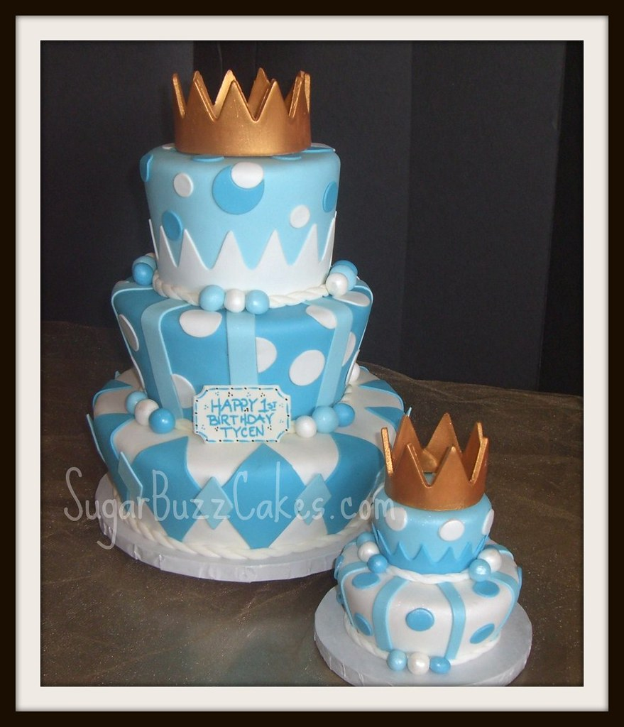 Marvelous Prince Birthday Cake With Gold Crown Carol Flickr Personalised Birthday Cards Bromeletsinfo