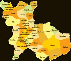 Concelho De Macedo De Cavaleiros Mapa Das Freguesias Jorge