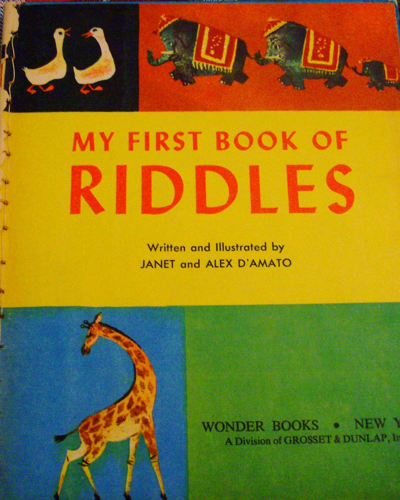 My First Book of Riddles   Written and Illustrated by Janet …   Flickr