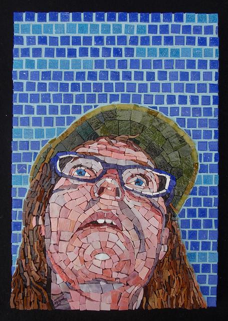 Lost in Mosaicland (self portrait)