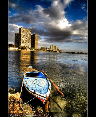 city clouds river landscape photography nikon flickr cityscape egypt nile cairo hdr afterrain hdri felluca eldahab andrewashenouda
