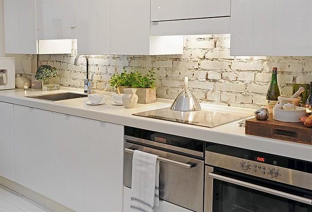 white kitchen, brick backsplash | from Alvhem | Anna @ D16 ...