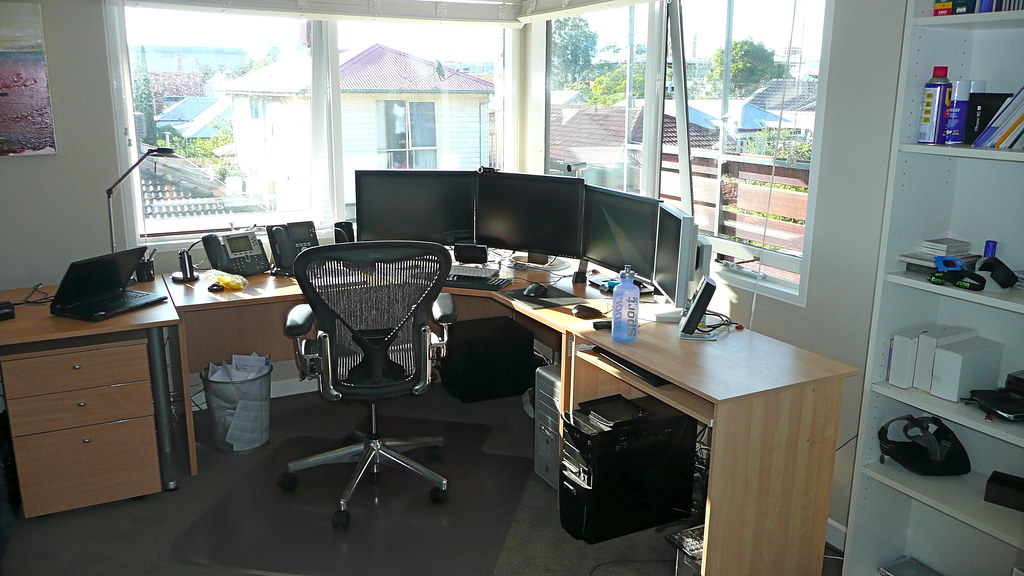 photo of a Melbourne office with roller blinds