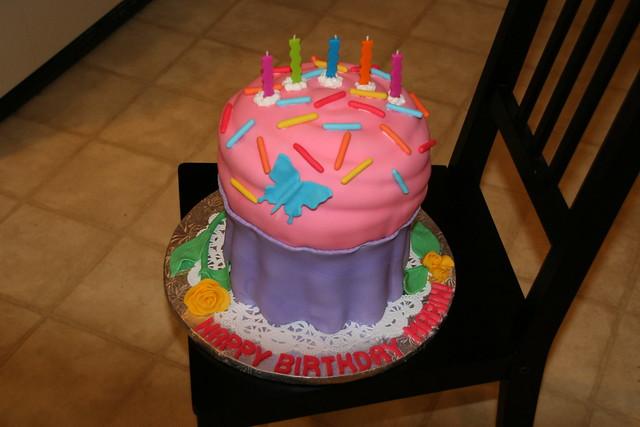 Giant Cupcake Cake
