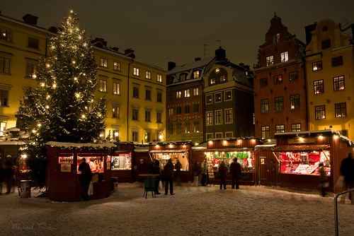 Christmas market in Stockholm Old Town | by Michael Cavén