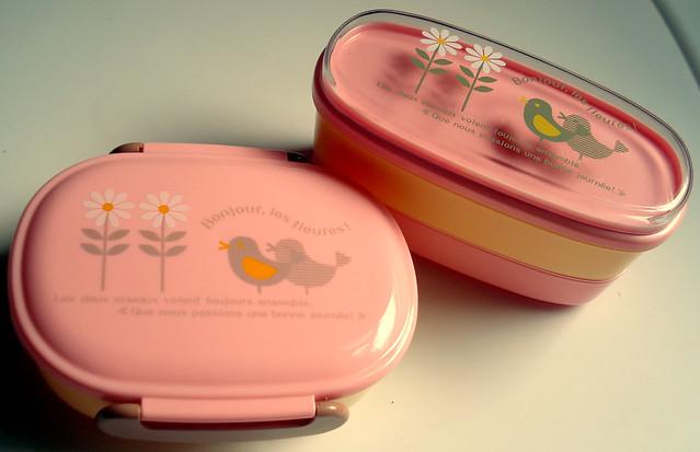 Bonjour, les fleures! Pink Bento Box