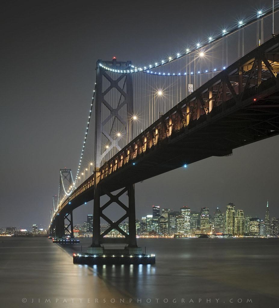 City At Night - San Francisco Bay Bridge, California