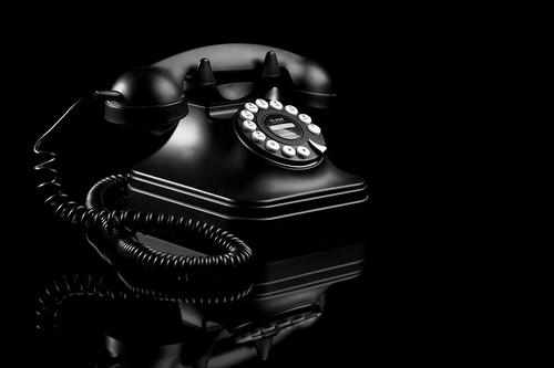 B&W Phone, reflected | by Ian_Hay