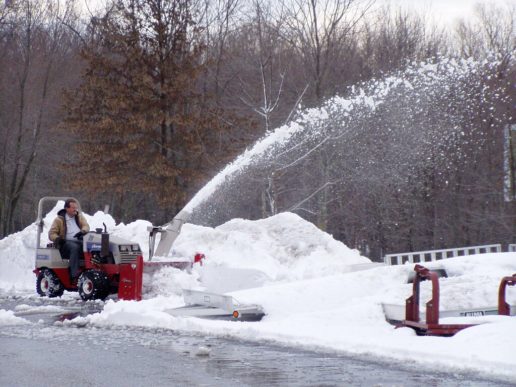Ventrac Snow Blowers | Ventrac snow blowers shoot snow up to