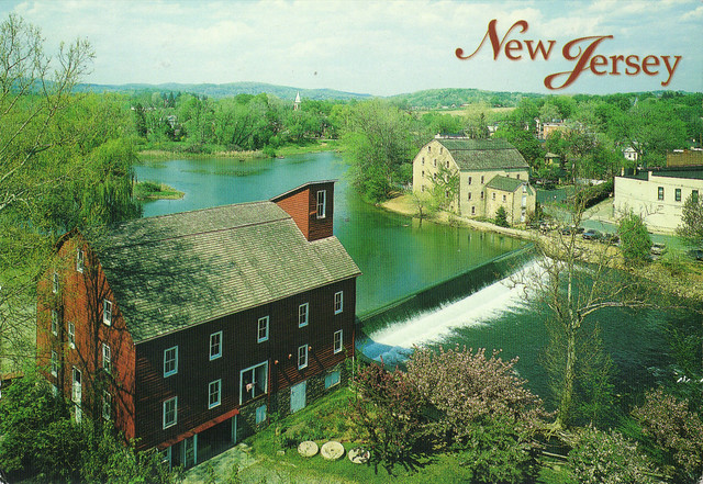 Clinton Red Mill, Clinton, New Jersey Postcard