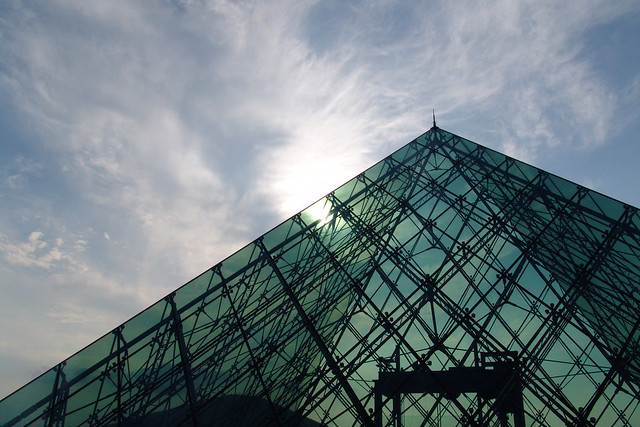 "Glass Pyramid ""HIDAMARI""."