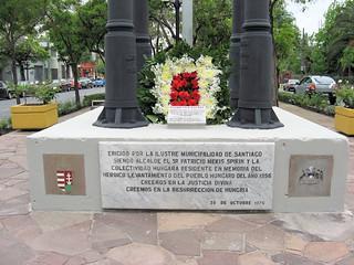 1956 Magyar Revolution celebration at the Szent Istvan plaza in Santiago de Chile