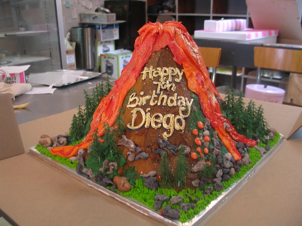 Strange Diegos Volcano Birthday Cake Charlys Bakery Flickr Personalised Birthday Cards Veneteletsinfo