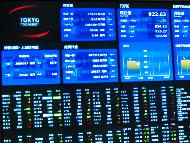 Tokyo Stock Exchange Display