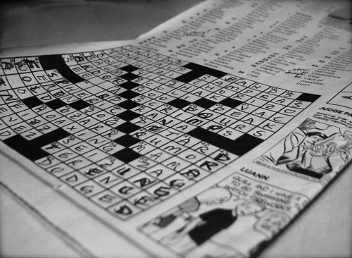 Shoot. I never finish this much of the NYT crossword. | by stephanie b.