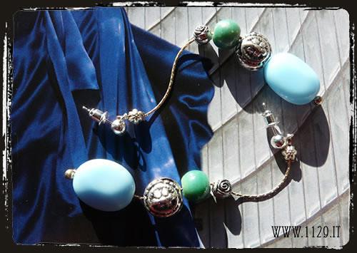 orecchini turchese verde - Green blue earrings IAMETVE