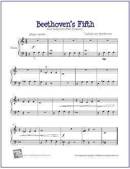 Beethoven's Fifth | Easy Piano Sheet Music (PDF) | Beethoven
