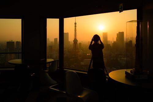sunset tower japan landscape tokyo evening photographer observatory