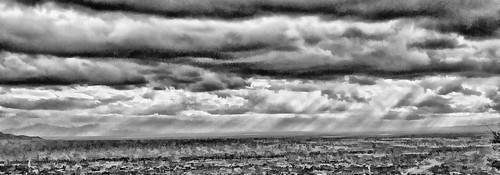 clouds pano panorama bw tucson rain weather