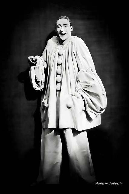 Digital Chalk and Charcoal Drawing of Pierrot by Charles W. Bailey, Jr.