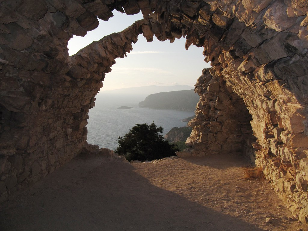 View from Monolithos Castle