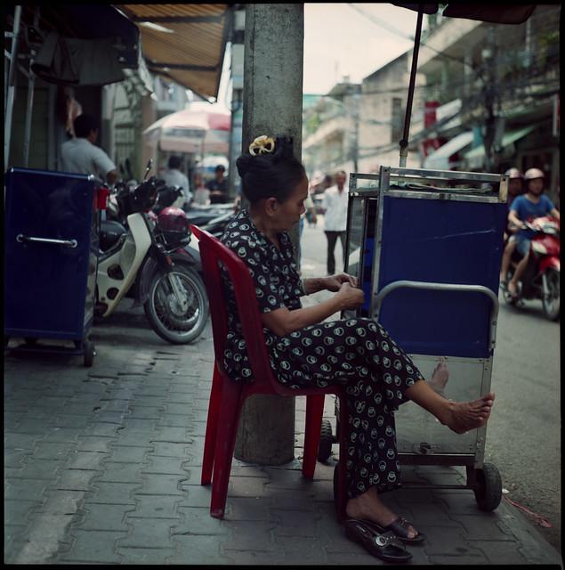 mirror foot chair