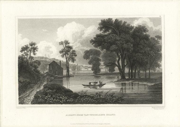 Albany, from Van-Unsselaens [Van Rensselaer's] Island.