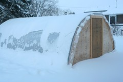 Greenhouse in December   by albertahomegardening