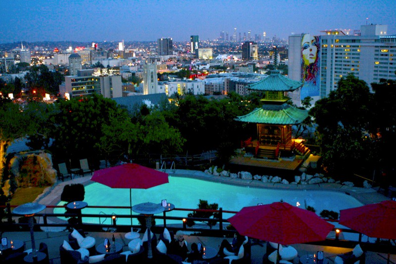 Yamashiro Restaurant Cam View | Los Angeles skyline as seen