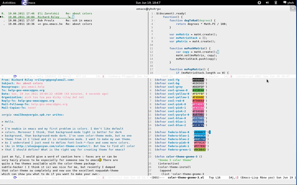 color-theme-gnome-3-awaita | Emacs color theme for the new g