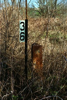 PRR railroad marker in Fayette County PA