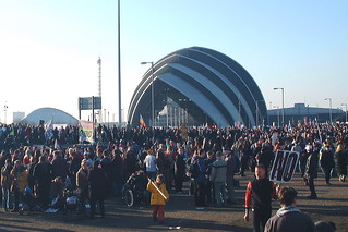 A section of the rally against the war on Iraq - Glasgow, 15 February, 2003