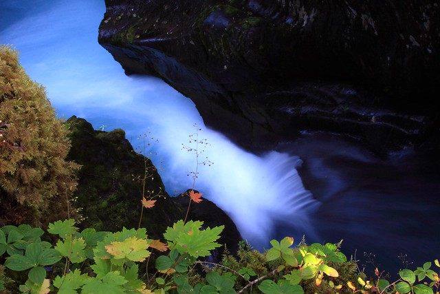 Long exposure at Winner Gorge, Girdwood, Alaska