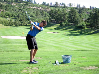 Camron Flanders 8 iron practice   by brent flanders