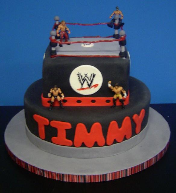 Wrestling Birthday Cake...