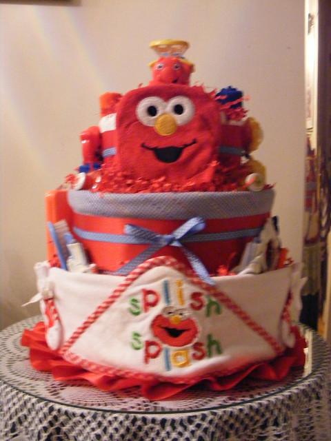 Elmo 3 Tier Diaper Cake (Large)