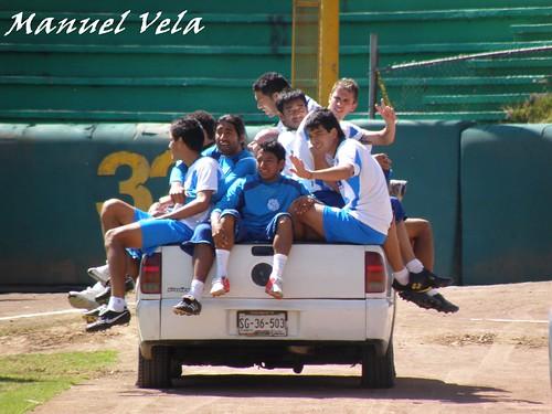 PB130077 Entrenamiento del Puebla FC en el estadio de beisbol Hermanos Serdán por LAE Manuel Vela