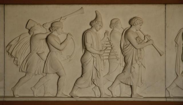 København, Thorvaldsens museum, the triumphal entry of Alexander the great into Babylon, 1822, detail