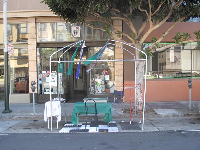 Paper Marbling Park(ing), Valencia @14th San Francisco
