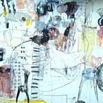 Syu no nakabi niha (2009) Oil on canvas, pigment, ink, charcoal 1940x1820x60mm