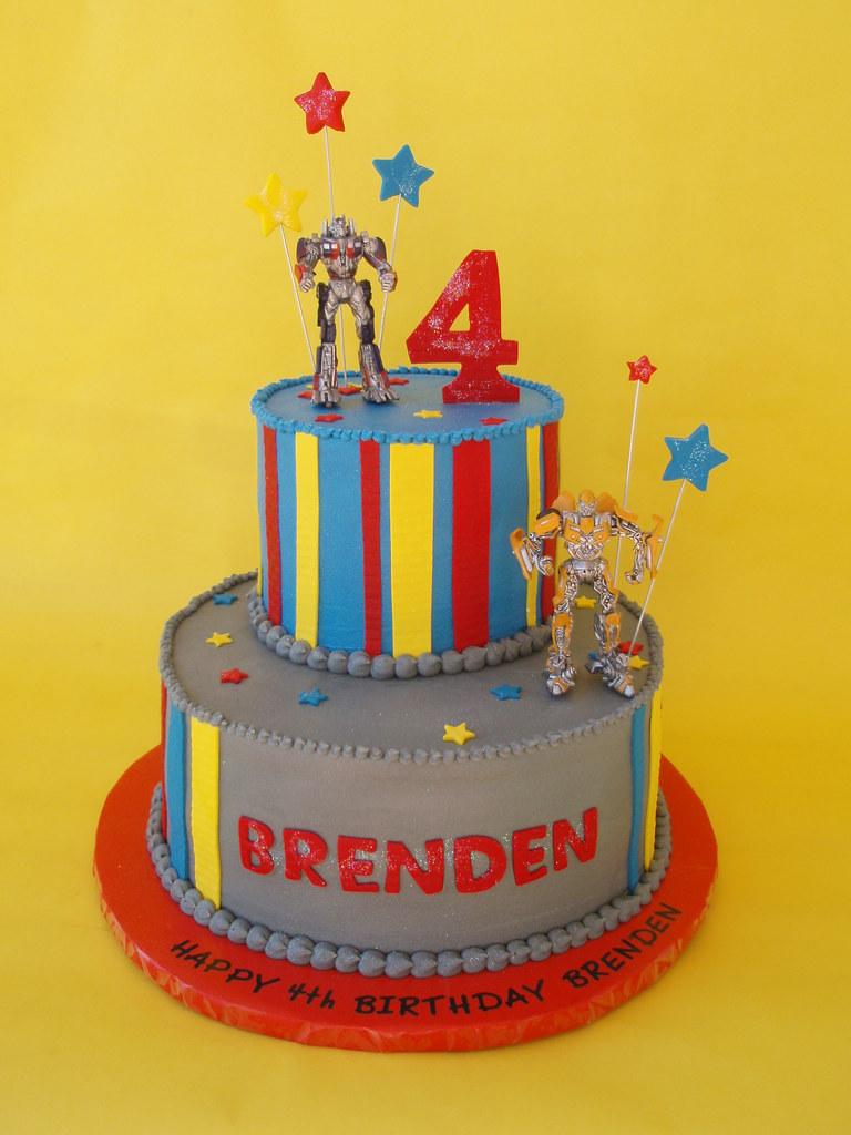 Strange Transformers Birthday Cake A Photo On Flickriver Funny Birthday Cards Online Ioscodamsfinfo