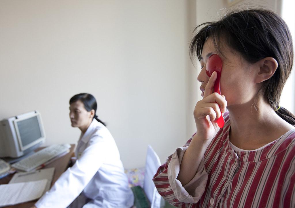 Fake medical test for tourists visits - Pyongyang hospital North Korea