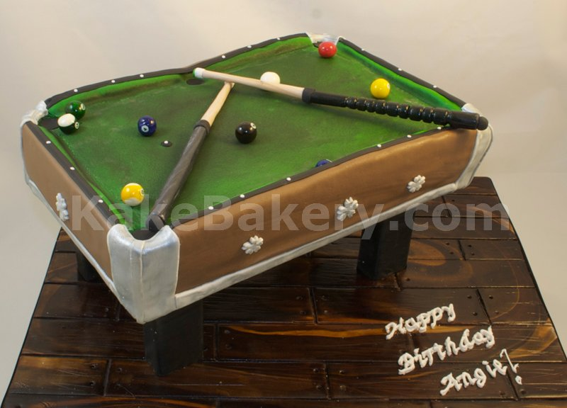 Awesome Pool Table Birthday Cake Pool Table Cake Is All Edible Po Flickr Personalised Birthday Cards Akebfashionlily Jamesorg