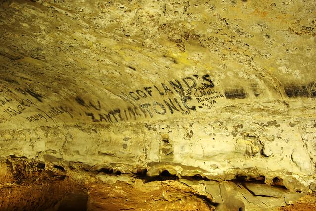 Historic Signatures, Snowball Room, Mammoth Cave, Edmonson Co, Ky