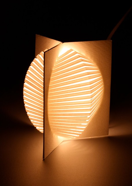 Fan Lantern | Three Square Units with stripe cuts and circle